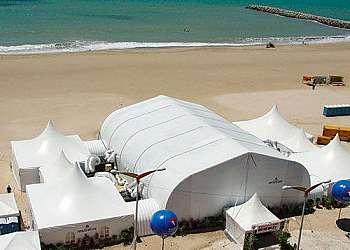 Tenda inflável para feiras personalizado